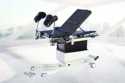 Biodex urology table with stirrups and fowler back up