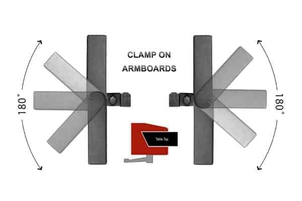 CARBON FIBER ARM BOARDS - CLAMP-ON