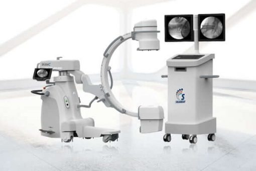 Skanray Skan C C-arm image with monitor cart