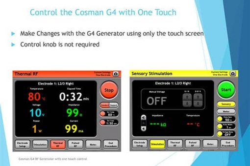 Cosman-G4-Radiofrequency-Generator-for-pain-management-one-touch-control