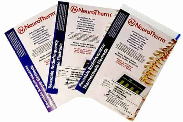 New and used Neurotherm RF electrodes for sale
